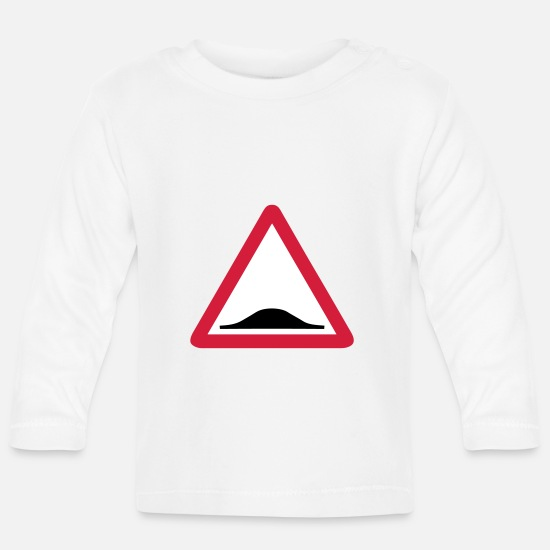 Donkey Baby Clothes - Triangle panel back donkey 209 - Baby Longsleeve Shirt white