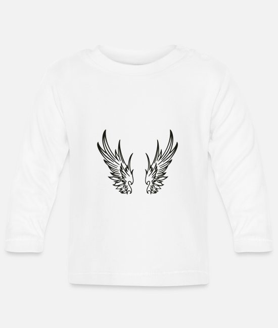 Angel's Wings Baby Long-Sleeved Shirts - engelsfluegel3 - Baby Longsleeve Shirt white