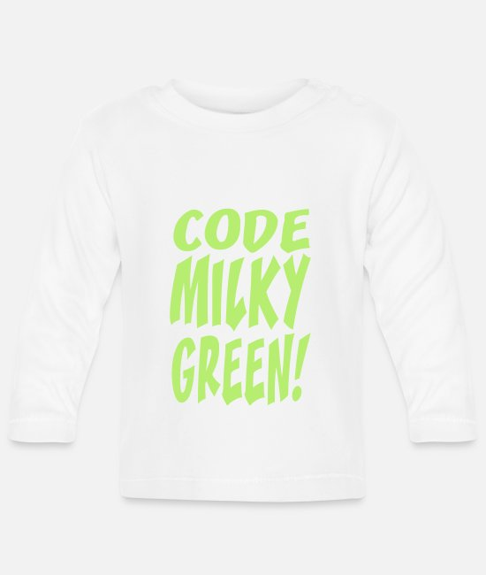 Game Baby Long-Sleeved Shirts - code milky green - Baby Longsleeve Shirt white