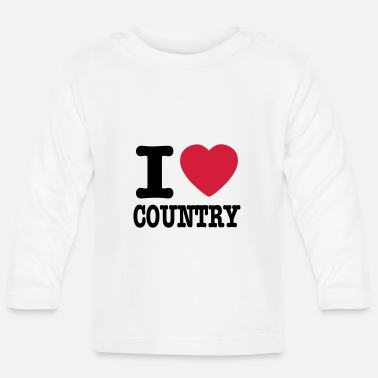 Country i love country / i heart country - Langærmet babyshirt