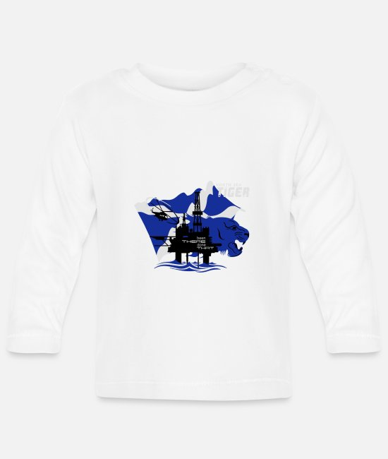 Rig Baby Long-Sleeved Shirts - Oil Rig Oil Field North Sea Tiger Aberdeen - Baby Longsleeve Shirt white