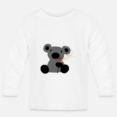 Cute Germany fan | Soccer Bear - Baby Longsleeve Shirt