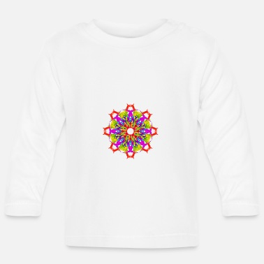 Marsala colour splash mandala - Baby Longsleeve Shirt