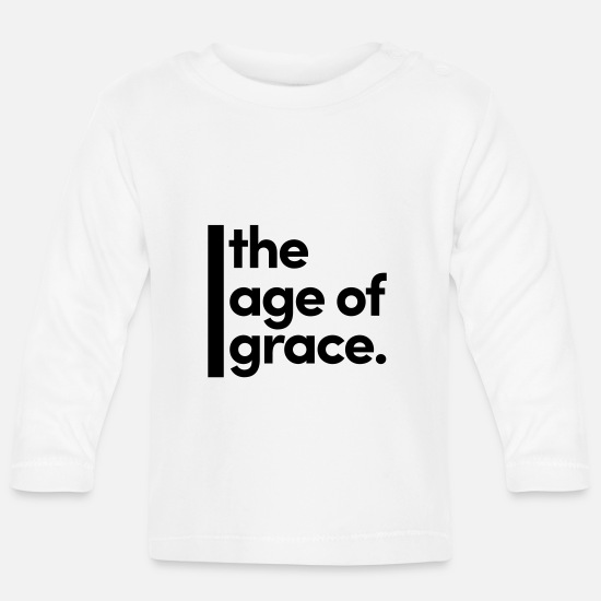 Christ Baby Clothes - The age of grace. - Baby Longsleeve Shirt white