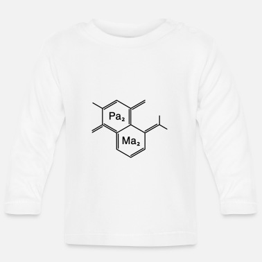Family Junior Daughter Mom Father chemical papa + mama - Baby Longsleeve Shirt
