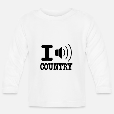 Country I music country / I love country - Langarmet baby T-skjorte