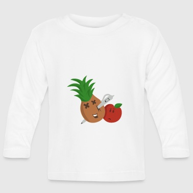 Pen Pineapple Apple Pen - Langærmet babyshirt