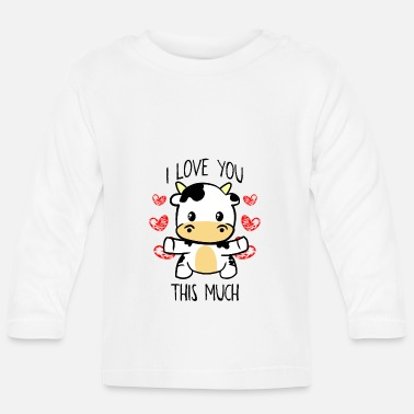 Koe I Love You This Much Cute Koe knuffel Valentijnsdag geschenk - T-shirt
