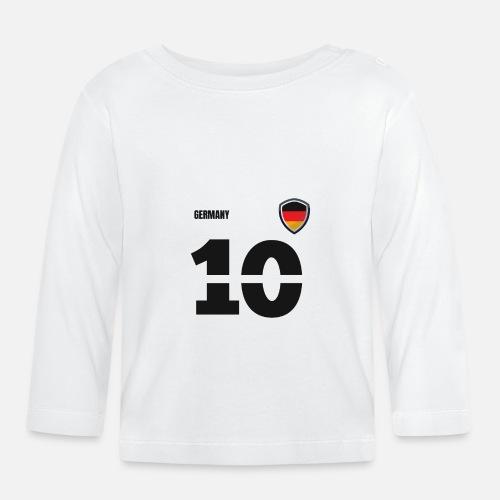 Deutschland Jersey Retro Trikot 2018 Style Baby Langarmshirt
