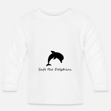 Enviromental Safe dolphin - Baby Long Sleeve T-Shirt