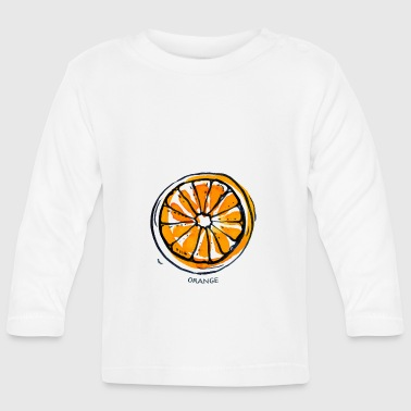 Fruit de fruit orange Fruit - T-shirt manches longues Bébé