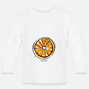 Fruit Fruit de fruit orange Fruit - T-shirt manches longues Bébé