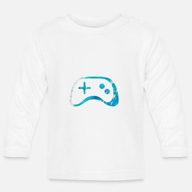 Gaming Nerd controler gamer game nerd - Baby Longsleeve Shirt