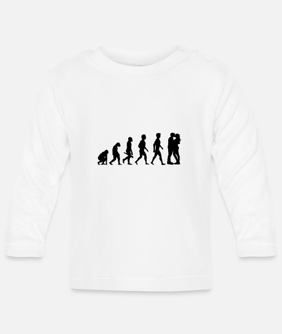Engagement Baby Long-Sleeved Shirts - Couple kiss love relationship engagement wedding18 - Baby Longsleeve Shirt white