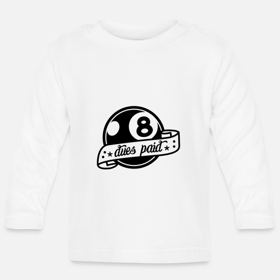 Rock Baby Clothes - tattoo eight ball - Baby Longsleeve Shirt white