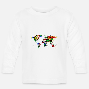 World map of the world world map - Baby Longsleeve Shirt
