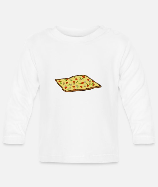Turin Baby Long-Sleeved Shirts - pizza pizzeria food food restaurant40 - Baby Longsleeve Shirt white