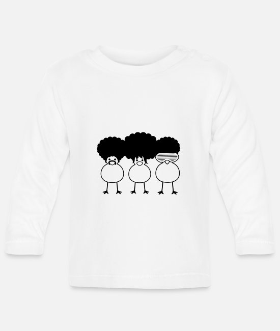 Miscellaneous Baby Long Sleeve Shirts - Funky Chicks - Baby Longsleeve Shirt white