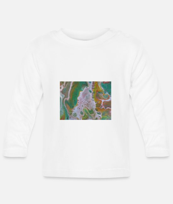 Artist Baby Long Sleeve Shirts - abstract - Baby Longsleeve Shirt white