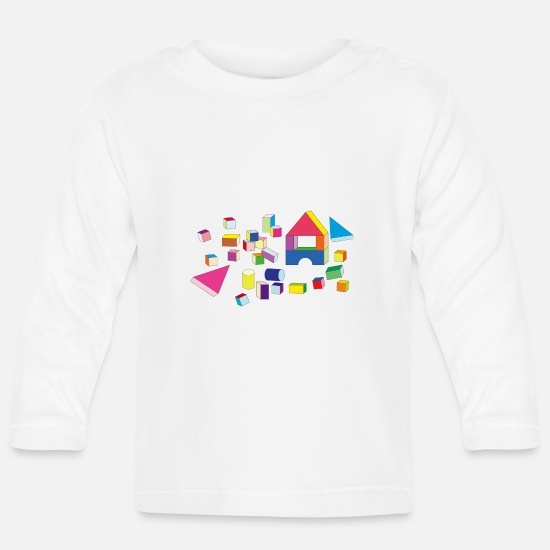 Play Baby Clothes - Building blocks - Baby Longsleeve Shirt white