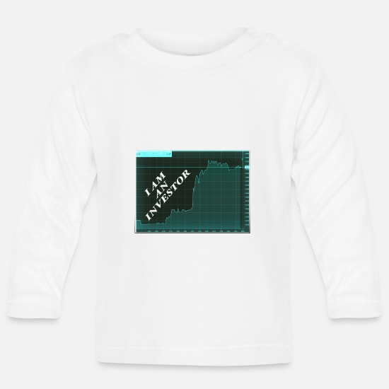 Moneygrubbing Baby Clothes - I AM AN INVESTOR - Baby Longsleeve Shirt white