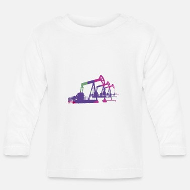 Oil Drilling Oil pumps, oil production, oil production, oil - Baby Longsleeve Shirt