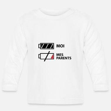 Parents Moi, mes parents - T-shirt manches longues Bébé