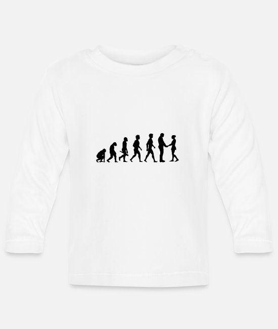 Engagement Baby Long-Sleeved Shirts - couple kiss love relationship engagement wedding2 - Baby Longsleeve Shirt white