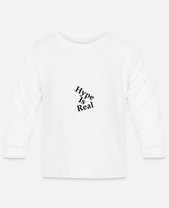 Middle School Baby Long-Sleeved Shirts - Hype Is Real - Baby Longsleeve Shirt white