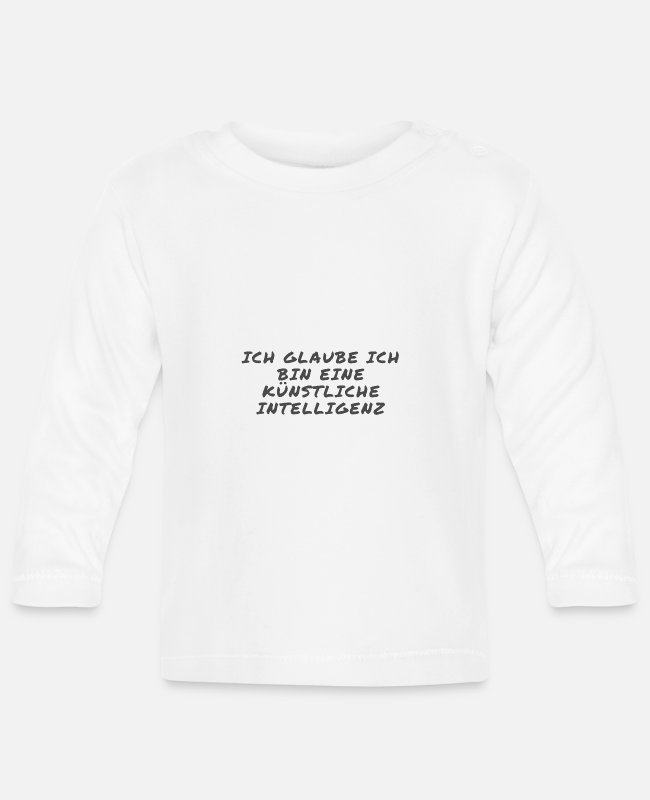 Personal Computers Baby Long-Sleeved Shirts - artificial intelligence - Baby Longsleeve Shirt white