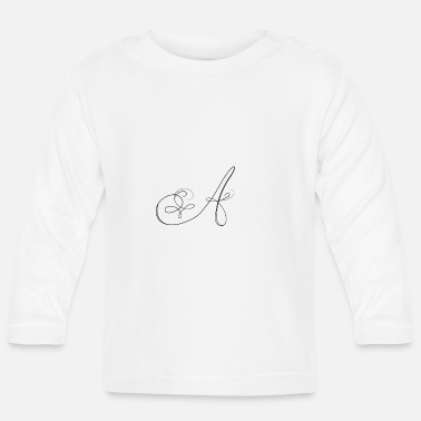 Lettering A, letter, letter A - Baby Longsleeve Shirt