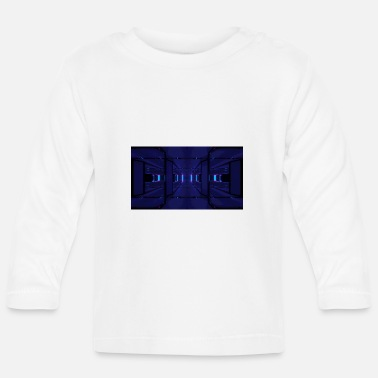 Scifi futuristic scifi glass tunnel 3d illustration - Baby Longsleeve Shirt