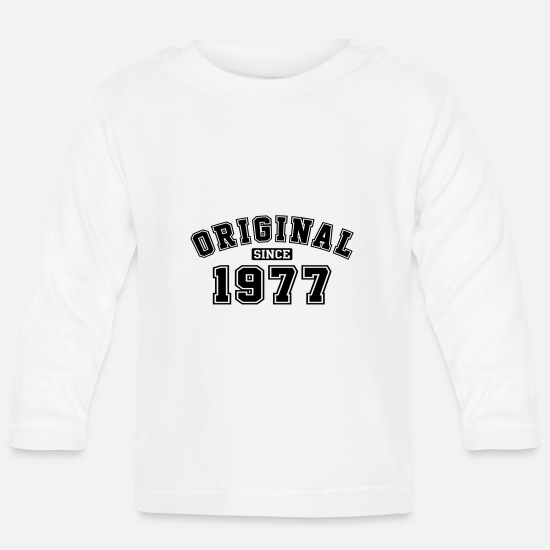 Birthday Baby Clothes - Original Since 1977 Vintage Birthday Birthday - Baby Longsleeve Shirt white