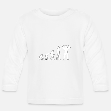 Building Evolution Body Building - Baby Langarmshirt