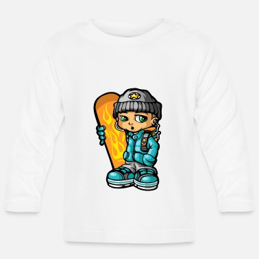 Mp3 Snowboarders en mp3 - Baby longsleeve