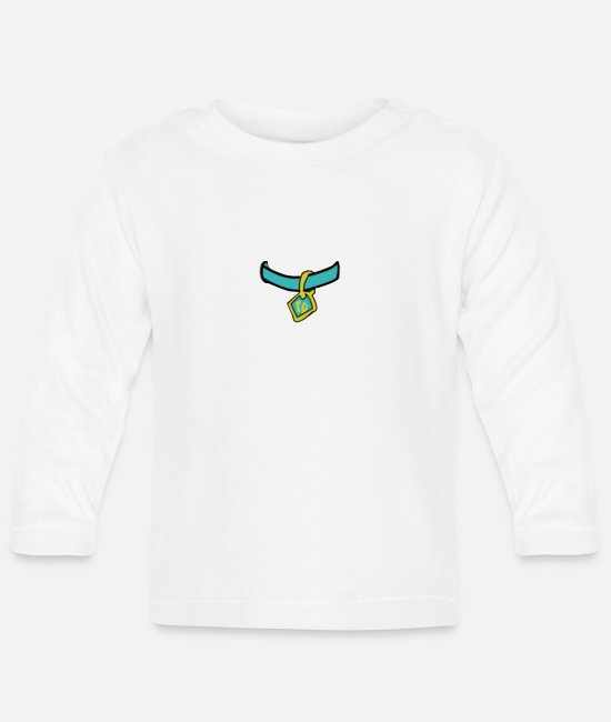 Drawing Baby Long-Sleeved Shirts - Scooby Medal - Baby Longsleeve Shirt white
