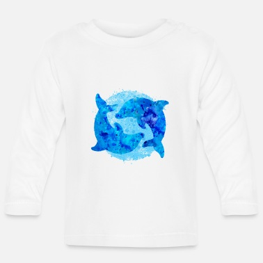 Dolphins (water colors) - Baby Longsleeve Shirt