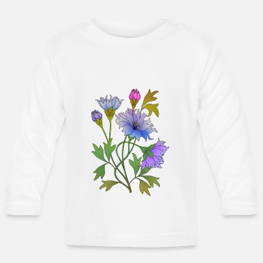 Color Flowers - Baby Longsleeve Shirt