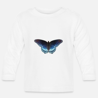 Butterfly in blue with great gradient - Baby Longsleeve Shirt