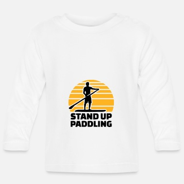 stand up paddling chill relax paddle - Baby Longsleeve Shirt