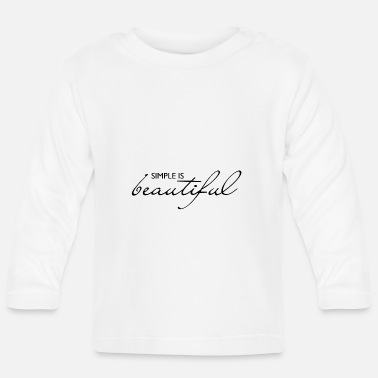 Glückseligkeit simple is beautiful - Baby Langarmshirt