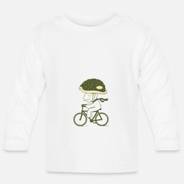 Never ride a bike without a helmet - Baby Longsleeve Shirt