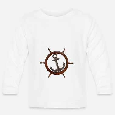 Starboard anchor and the ship's rudder - Baby Longsleeve Shirt