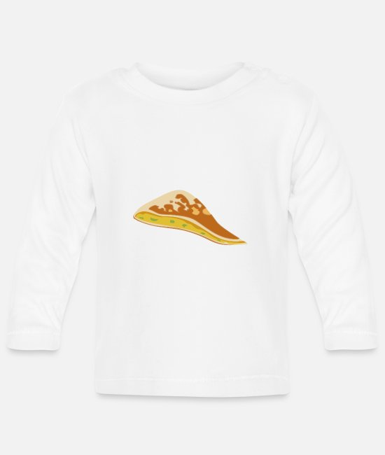 Turin Baby Long-Sleeved Shirts - pizza pizzeria food food restaurant8 - Baby Longsleeve Shirt white