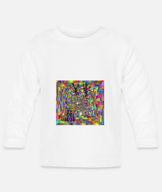 Radiant Baby Long-Sleeved Shirts - Disco Cube - Baby Longsleeve Shirt white