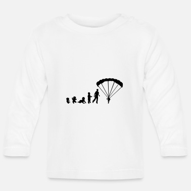Baby Evolution sports paragliding human rights - Baby Longsleeve Shirt