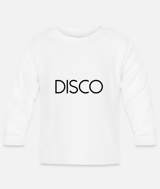 Dance Floor Baby Long-Sleeved Shirts - DISCO - Baby Longsleeve Shirt white