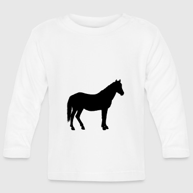 Stallion horse silhouette | gift - Baby Long Sleeve T-Shirt