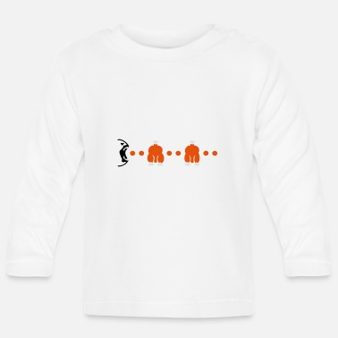 Blow Out Hähnchen fressen / chicken blow-out (3c) - Baby Longsleeve Shirt