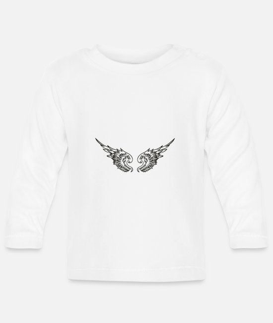 Angel's Wings Baby Long-Sleeved Shirts - engelsfluegel5 - Baby Longsleeve Shirt white
